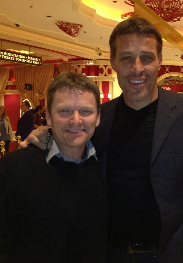Pat Mixon and Tony Robbins